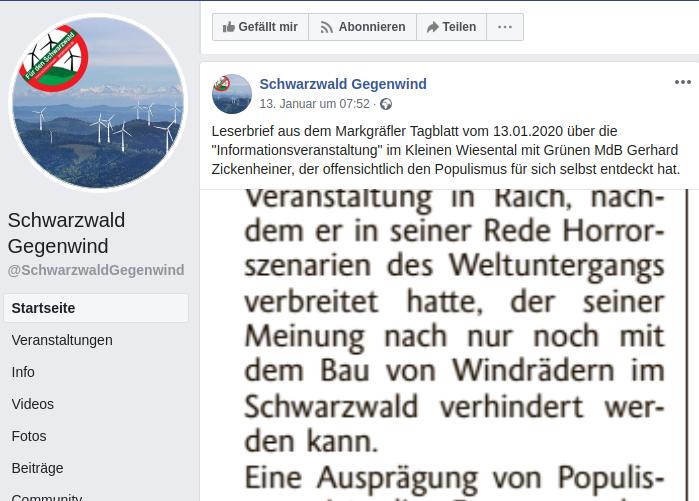 Schwarzwald-Gegenwind