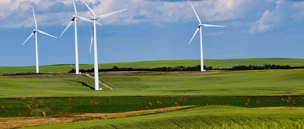 Grüne Landschaften mit Energiewende