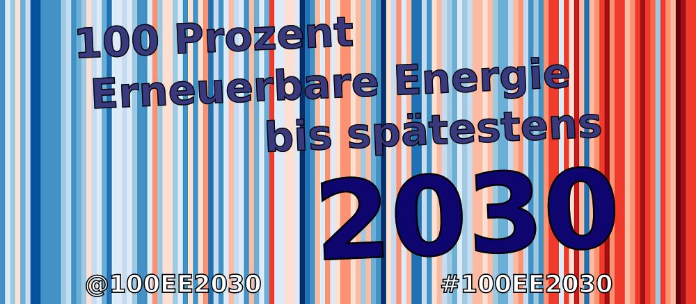100 % Erneuerbare Energie bis spätestens 2030