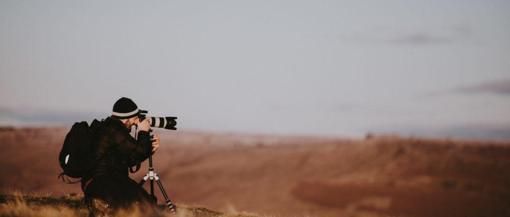 Fotografierender Wanderer