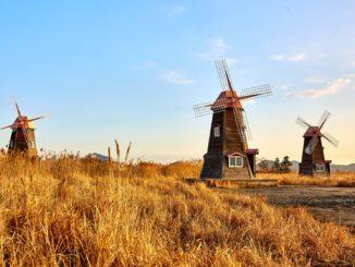 Historische Windmühlen